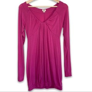 Aritzia Wilfred Long Sleeve V Neck Tunic Top